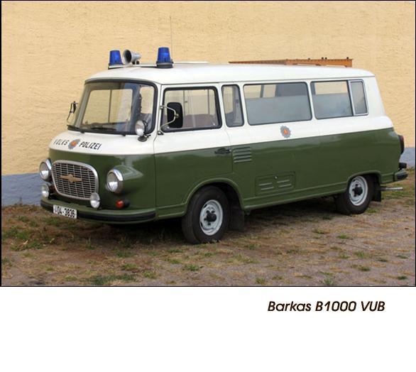 DDR Polizeifahrzeuge Volkspolizei Deutsche Demokratische Republik Polizeiautos Barkas B1000 VUB