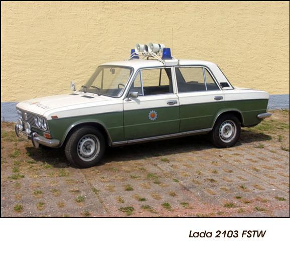DDR Polizeifahrzeuge Volkspolizei Deutsche Demokratische Republik Polizeiautos Lada 2103 FSTW